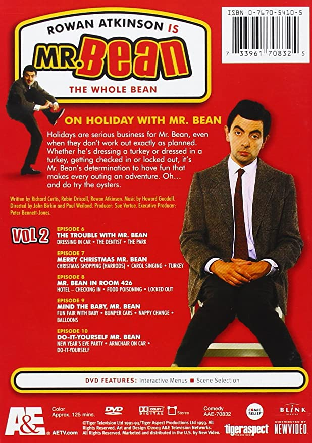 Mr beans holiday dvd menu tight dress mr bean the whole bean complete set 3 dvd import solutioingenieria Choice Image