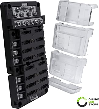 Automotive Marine 12V Multi Safety Fuse Holder Box 1 Way Connection