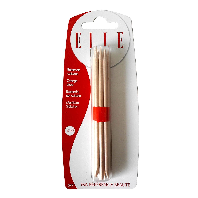 Elle Bastoncino Manicure legno x 10–Set di 3 EL410027 80