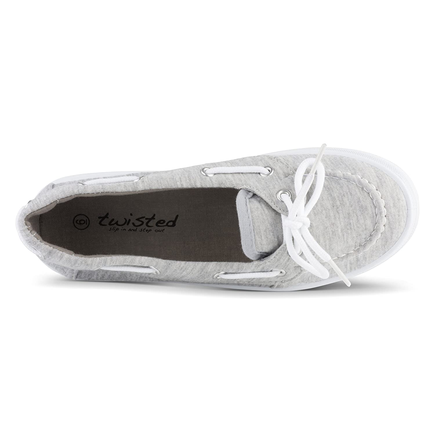 b1ae7d6f6d2345 Amazon.com | Twisted Women's Casual Canvas Boat Shoe | Loafers & Slip-Ons