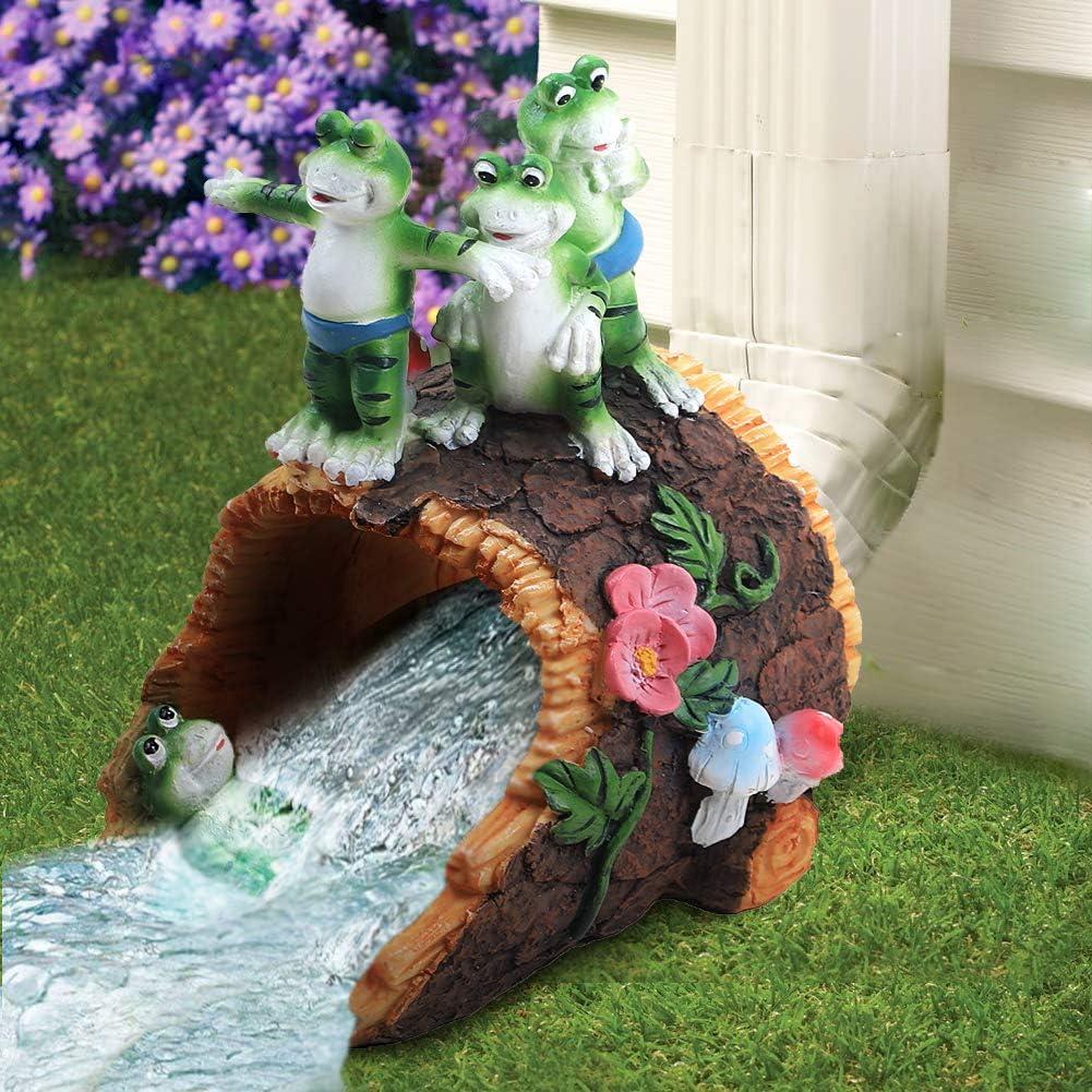 Ajure Gutter Downspout Extension Downspout Diverter,Outdoor Garden Statue, Cute Frog Design, Dimensions:8