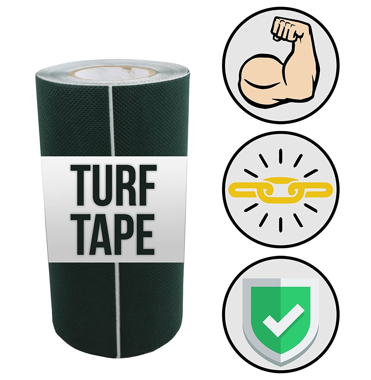 Backyard Accessories Tough Tape – Artificial Grass Seaming Tape – (6 in x 82 ft, Green) – Synthetic Self-Adhesive for Turf, Lawn, Carpet Jointing (6 in x 82 ft, Green)