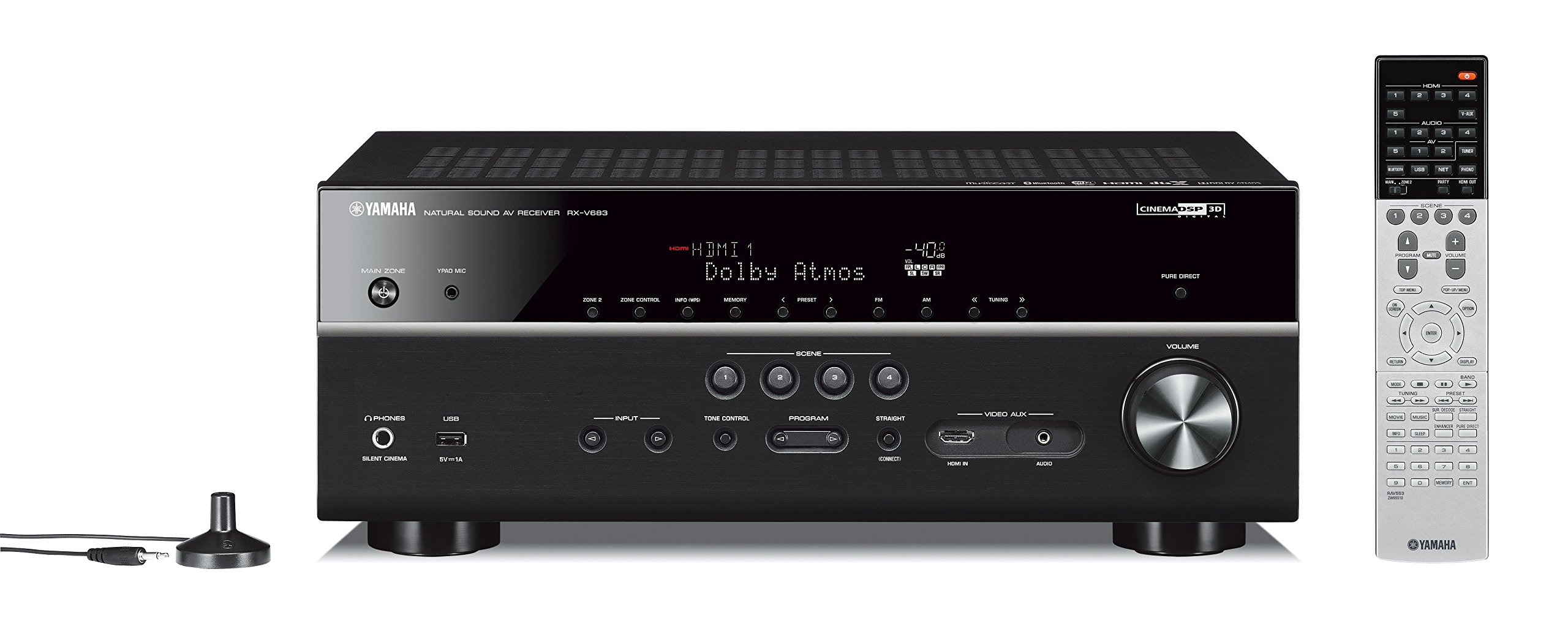 Yamaha RX-V683BL 7.2-Channel MusicCast AV Receiver with Bluetooth by Yamaha Audio