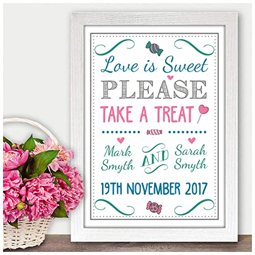 Phenomenal Love Is Sweet Take A Treat Personalised Wedding Signs Interior Design Ideas Tzicisoteloinfo