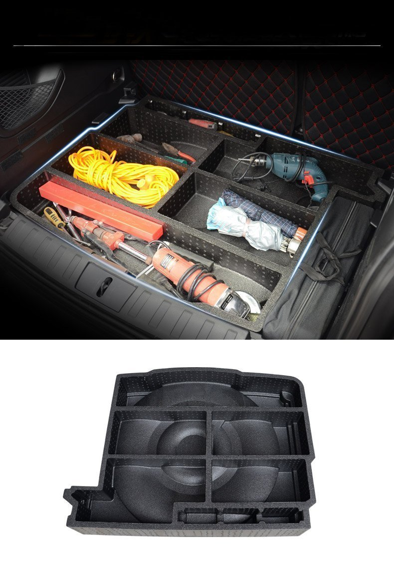 Niceautoitem Rear Liftgate Tail Door Multi-functional Tool Storage Bag for Jeep Renegade 2014 UP(Black) by Niceautoitem