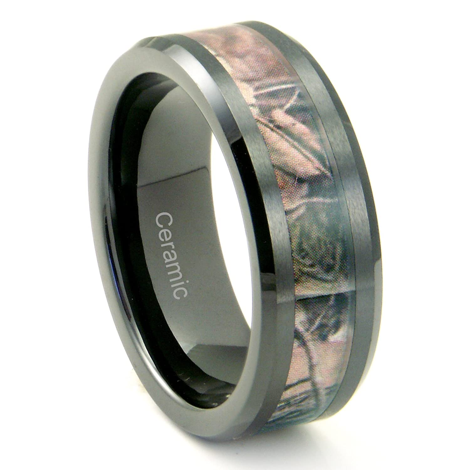 wedding camouflage pink engagement rings ring camo