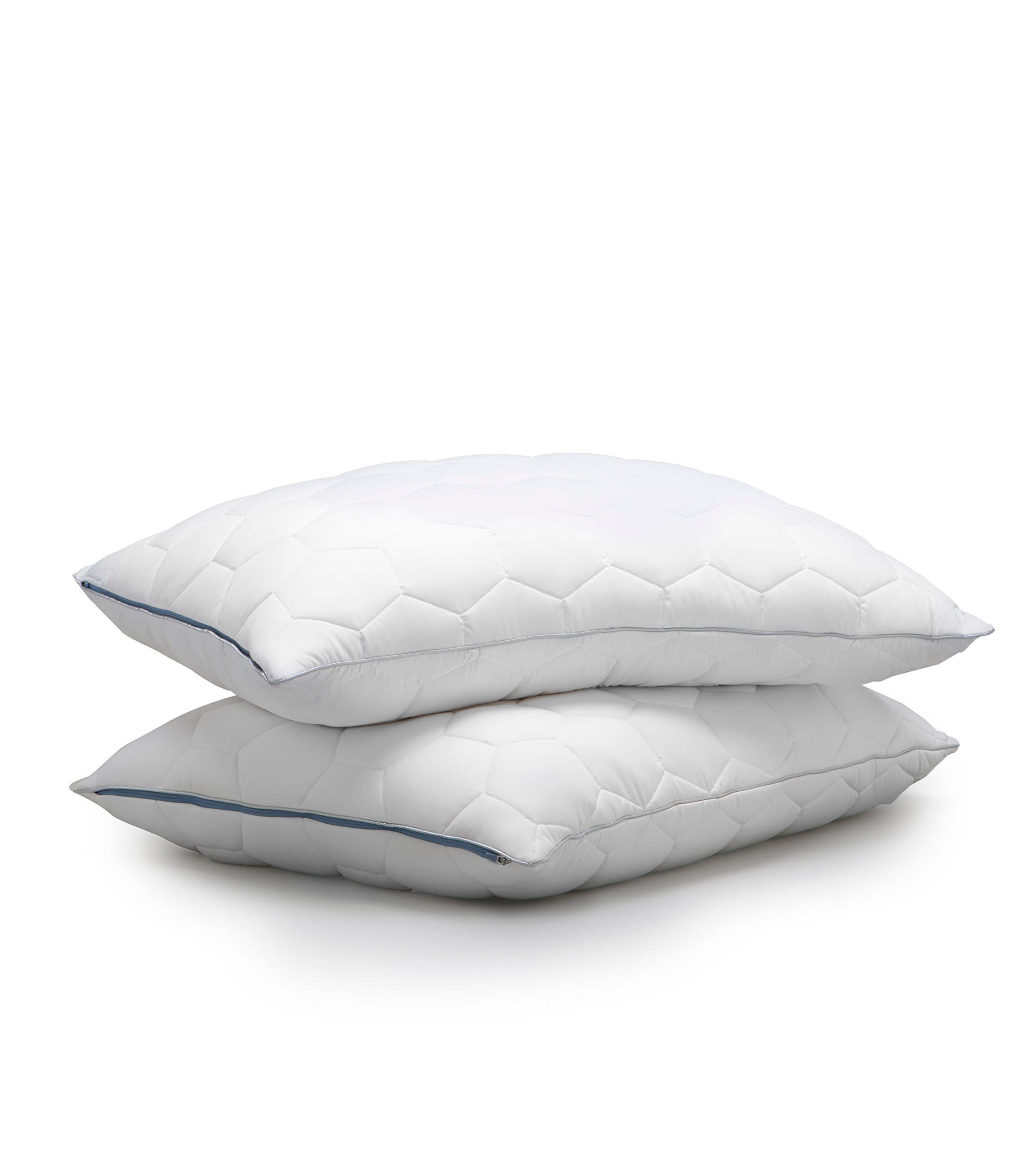 SHEEX - ORIGINAL PERFORMANCE Down Back/Stomach Sleeper Pillow, Helps to Promote a Better, Cooler Night's Sleep (King)