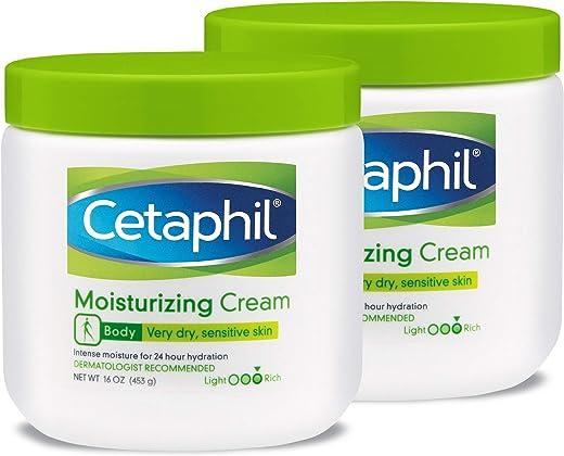 Cetaphil Fragrance Free Moisturizing Cream, 16 Ounce (Pack of 2)