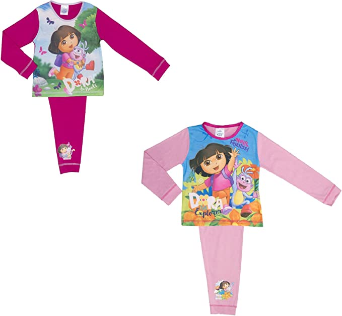 18 Months to 5 Years Cartoon Character Products Dora The Explorer Infant Girls Pyjamas Various Designs