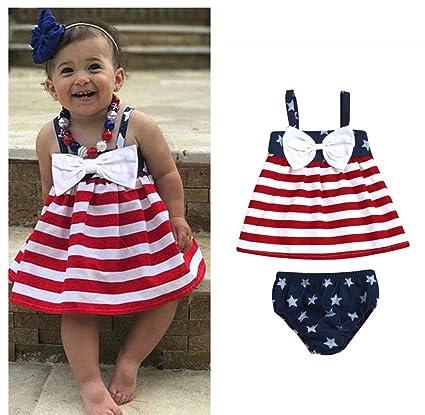 56736ba7f4b Franterd Baby Strap Dress - 4th Of July Star Stripe Bowtie Dress+Shorts -  Family