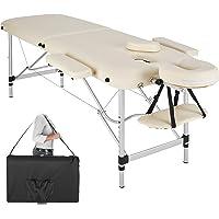 TecTake Table de Massage Pliante Aluminium Cosmetique Lit de Massage Portable + Housse de Transport - diverses couleurs au choix - (Beige   No. 402787)
