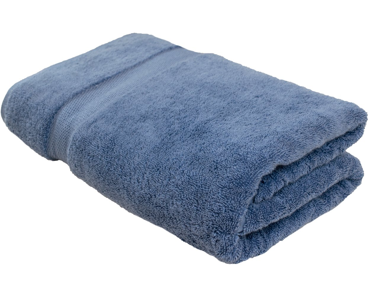 Cotton & Calm Exquisitely Plush and Soft Oversized Bathsheet Towel, Blue - 1 Extra Large Bath Towel (35'' x 70'') - Spa Resort and Hotel Quality, Super Absorbent 100% Cotton Luxury Bathroom Towels