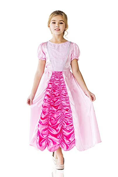 Little Rose Princess Sleeping Beauty Dress Up & Role Play Halloween Costume (6-8 years)