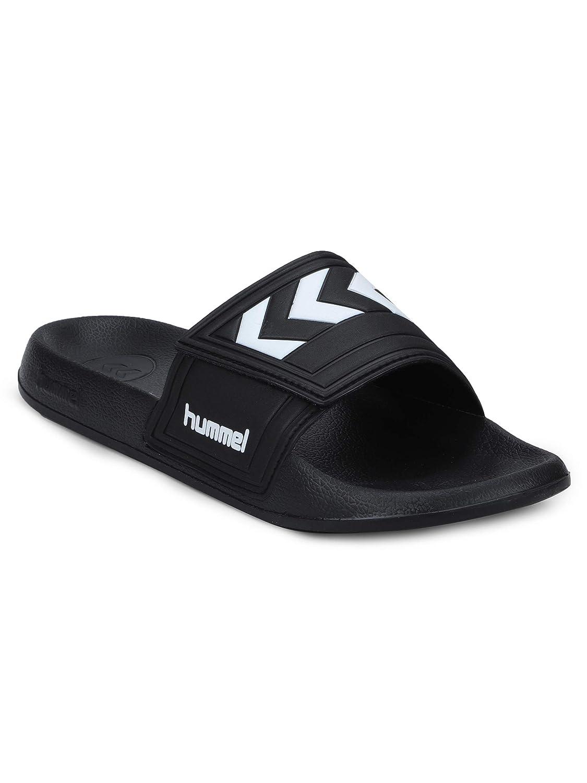 the latest 1d761 c6441 HUMMEL Larsen Black Unisex Slippers: Amazon.in: Shoes & Handbags