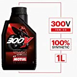Motul 300V 104125 Factory Line Ester Core Fully Synthetic 15W-50 Petrol Engine Oil for Bikes (1 L)