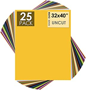 Mat Board Center, Pack of 25, 32x40 Uncut Mat Boards - White Core - Variety Pack - Assorted Colors - Full Sheet