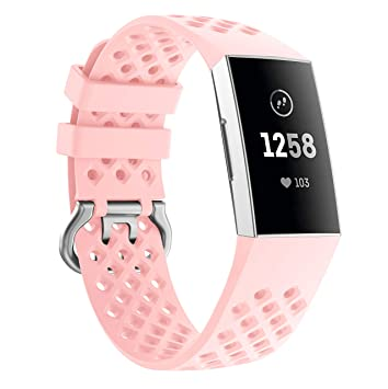 Circle Compatible for Fitbit Charge 3 Strap,Replacement