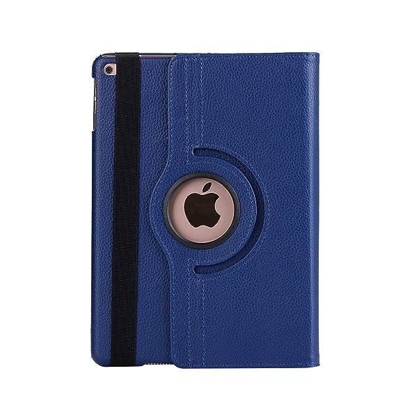 Nv 360 Degree Rotating PU Flip Cover for Apple iPad Air  Blue