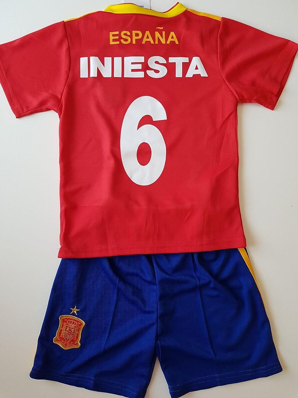 Générique Camiseta de fútbol España Iniesta NO6 8 años 2018 ...