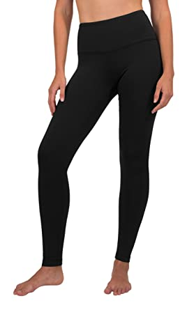 ac33a8dd4f876 90 Degree By Reflex High Waist Fleece Lined Leggings - Yoga Pants - Black -  Large