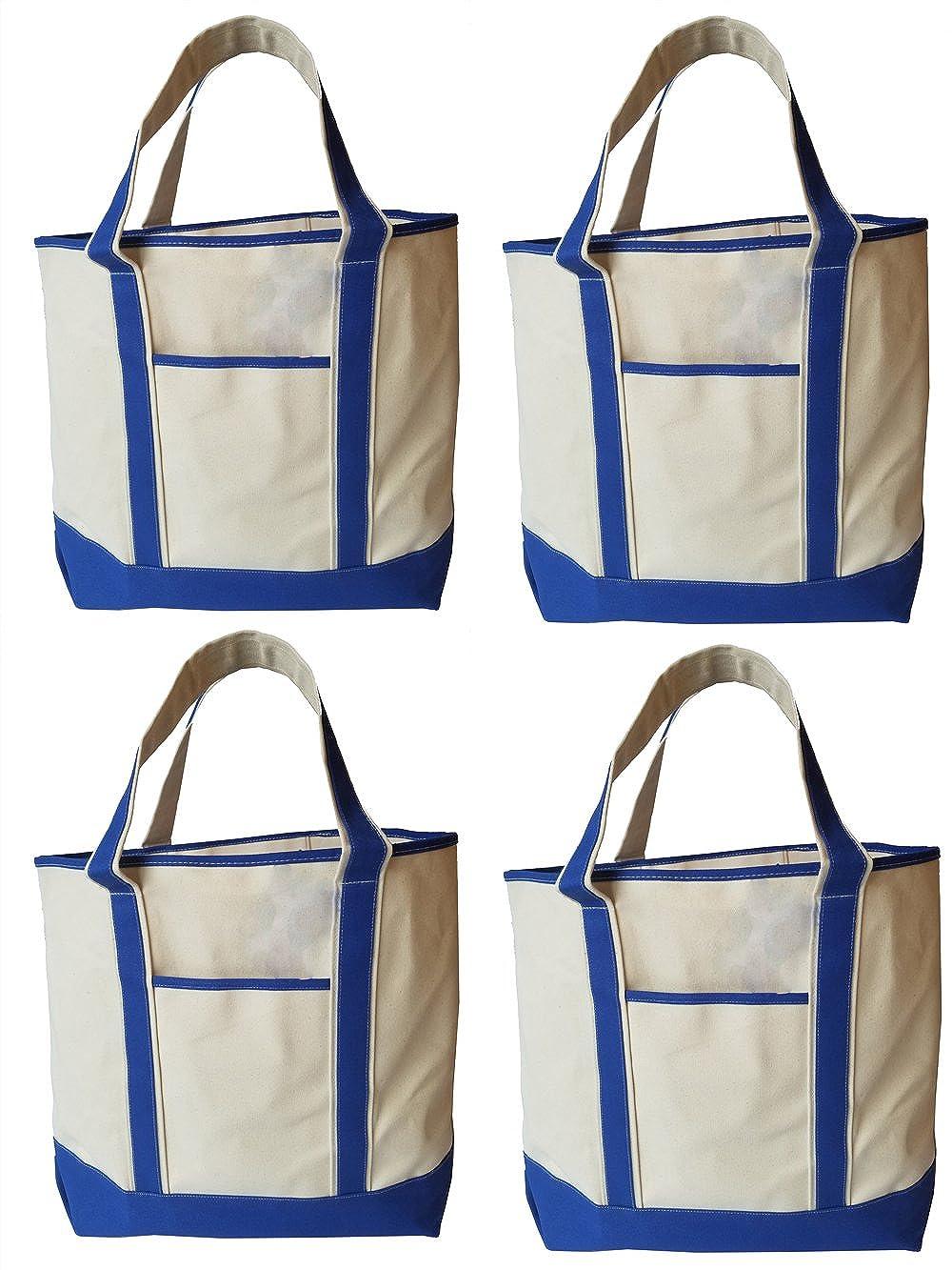 Deluxe Canvas Tote Shoulder Messenger Beach Bag, 22 x 16 Heavy duty cotton