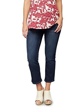 ebaab54b88845 A Pea in the Pod Luxe Essentials Denim Secret Fit Belly Cropped Flare Maternity  Jeans