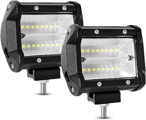 perfk 2pcs Phare Avant Quad LED Lumi/ère Universel Moto Quad ATV