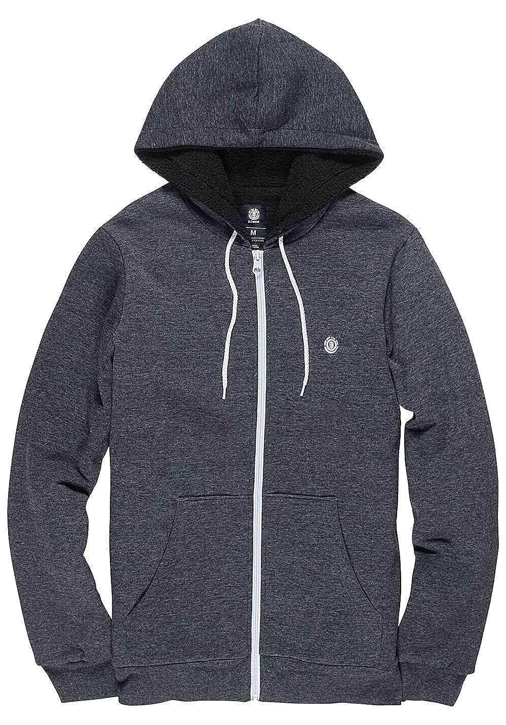 Element Bolton Zip Hood Charcoal Heather 1