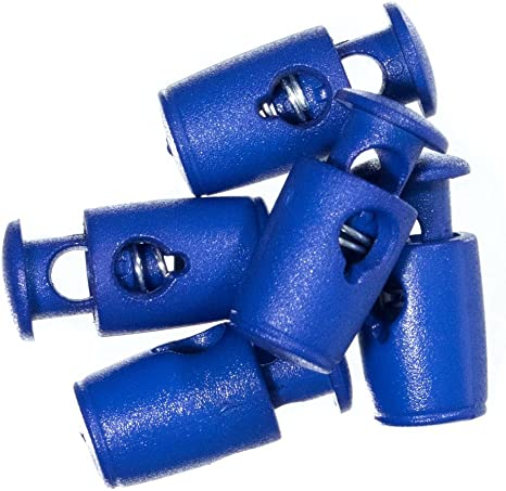 for Thin Paracord Yarn String Clamp and Toggle Stop Slider for Small Cords Blue, 5 Pack and Twine Craft County Single Hole Plastic Micro Cord Locks Indoor//Outdoor Use