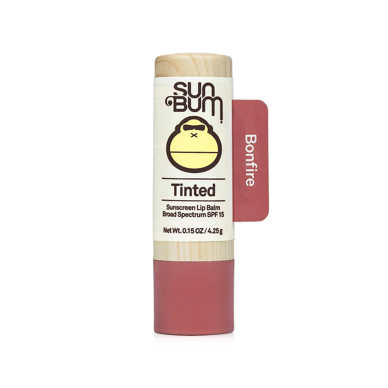 Amazon.com : Sun Bum Tinted Lip Balm Bon Fire   SPF 15   UVA / UVB Broad  Spectrum Protection   Sensitive Skin Safe   Hypoallergenic, Paraben Free    Ozybenzone Free   0.15 Oz : Beauty