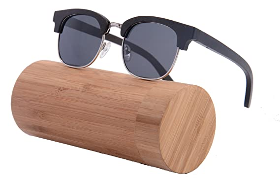 22c4d9af2e0 Classic Clubmaster Wood Sunglasses Square Frame Wooden Glasses Polarized  UV400-Z6089(c13)