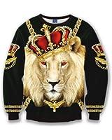 Pizoff Unisex Hip Hop 3D Luxury Digital Printing SweatShirts Y1627