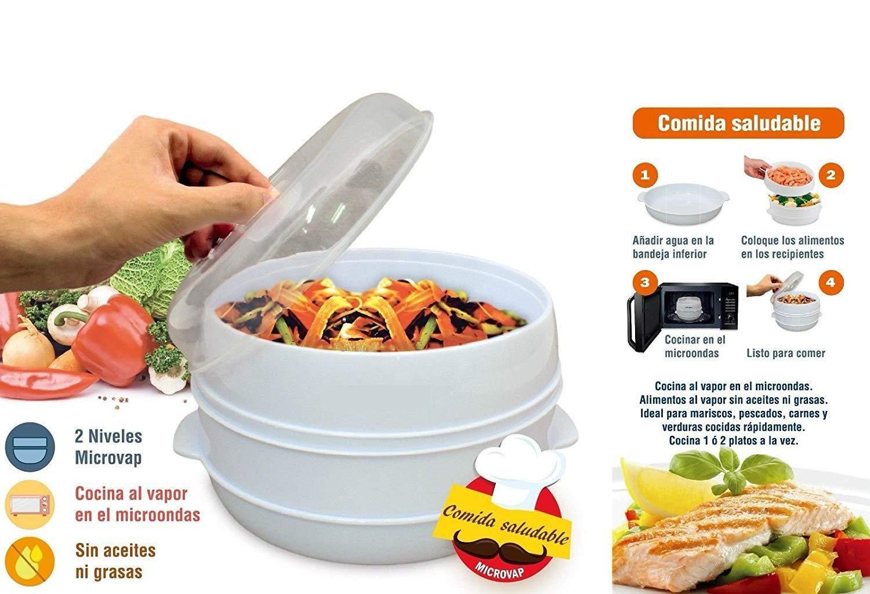 MovilCom® - Olla a vapor 2 niveles Microvap | cocinar...
