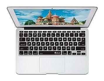 "KB Covers ruso QWERTY ISO funda para teclado MacBook Air 11 "", transparente"