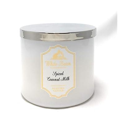 White Barn Bath & Body Works Candle 3 Wick 14.5 Ounce Spiced Coconut Milk