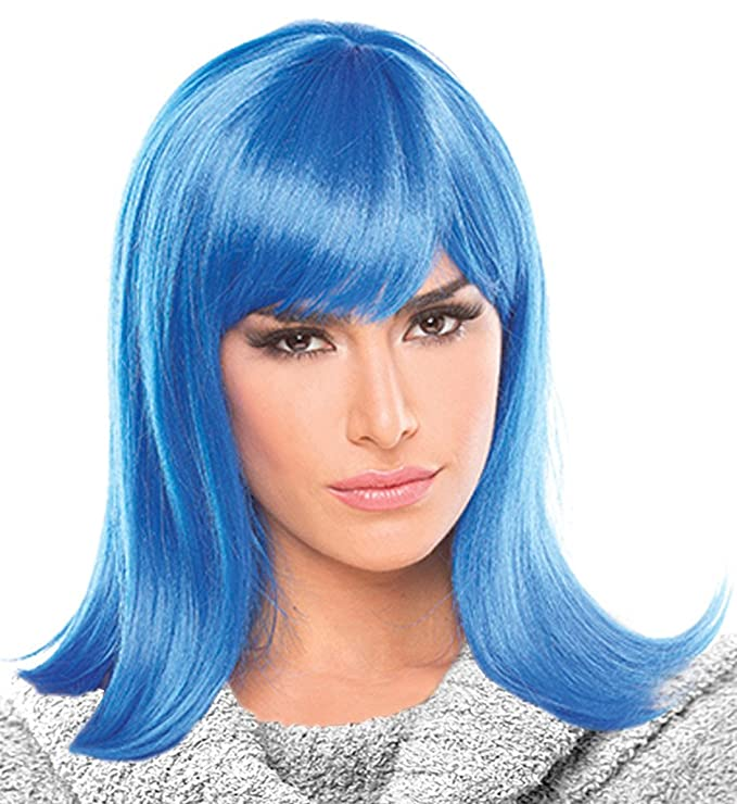 Amazon.com: Costume Adventure Blue Character Flip Wig for Women: Clothing
