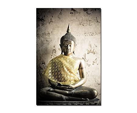 120 x 60 CM Wall Art Thai Buddha Statue Canvas Picture on Stretcher ...