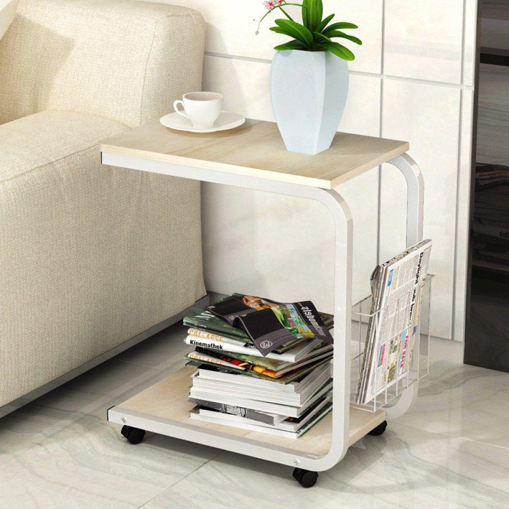 GUI Moderner Minimalistischer Couchtisch, Schlafzimmertisch, Mobiler Nachttisch, Mini-Sofa-Schrank Im Wohnzimmer Teetisch Mobiler Schreibtisch Laptoptisch