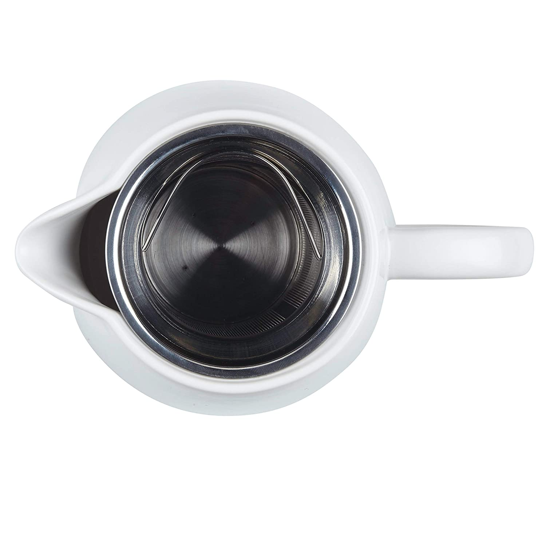 Matte White BonJour Wayfarer Ceramic Coffee Pot 34-Ounce
