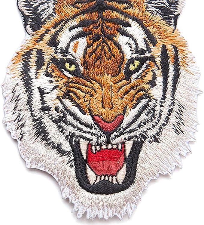 Fliyeong Premium Calidad Tiger Lion Bordado Parche Hierro en ...