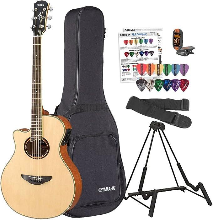 Yamaha apx700iil – Guitarra electroacústica para zurdos (con funda ...