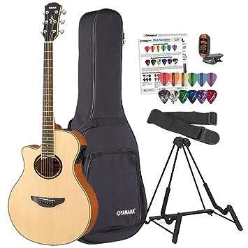 Yamaha apx700iil - Guitarra electroacústica para zurdos (con funda, soporte para guitarra, afinador, correa y púas de guitarra: Amazon.es: Instrumentos ...