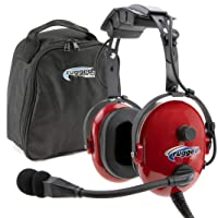 Rugged. Air RA250 Red General Aviation Child Headset with 3.5mm Input Jack for Music...