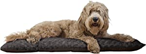 Furhaven Pet - Snuggly Soft Bolster Dog Bed & Tufted Crate Pillow Dog Cushion for Dogs & Cats - Multiple Styles, Sizes, & Colors