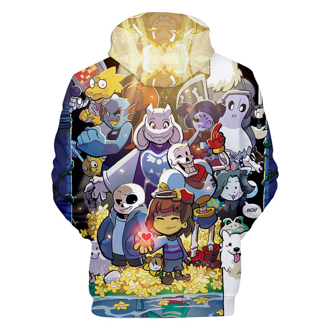 YAXAN Unisex Sans Skull Cosplay Costume Performance Sweatshirt Hoodie Classic