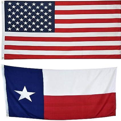 70905db02e95 2x3 USA Flag American Flag   Texas State Super Polyester Nylon Flags 2X3 ft  (60