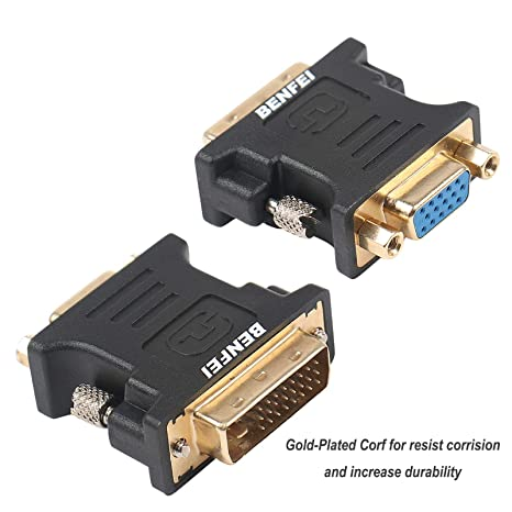 DVI-I to VGA Adapter Benfei DVI 24+5 to VGA Male to Female Adapter with Gold Plated Cord