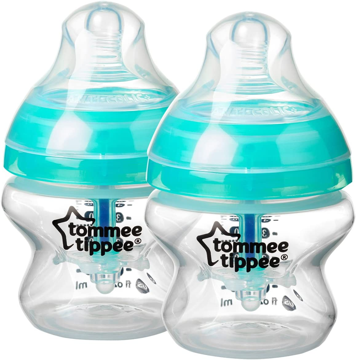 White Tommee Tippee Advanced Anti-Colic Baby Bottle Complete Feeding /& Gift Set