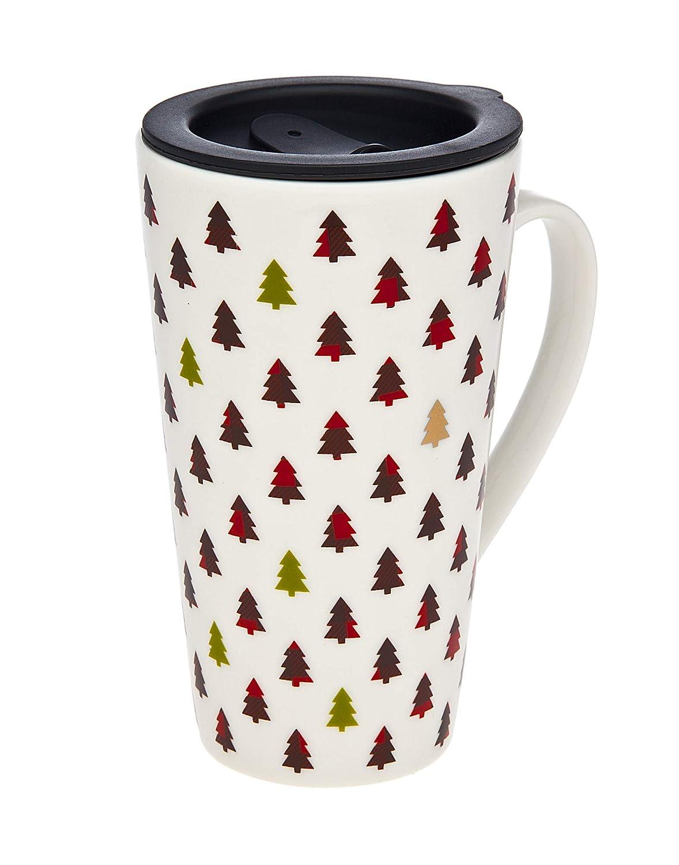 Holiday travel Mug Christmas Joy Beverage Tumbler - 18.5 oz