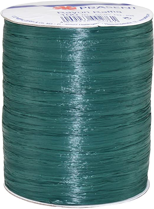 Morex Ribbon Rayon Raffia Fabric Ribbon Spool 100-Yard Lime